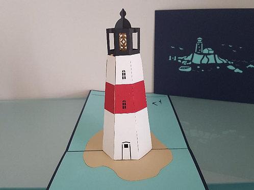 Large Pop Up Card - Lighthouse
