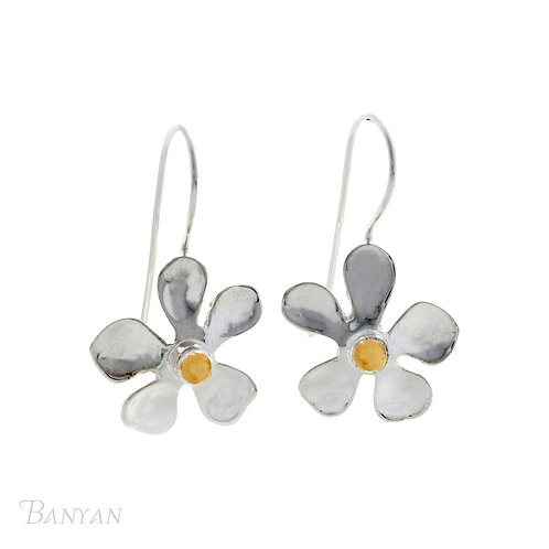 Anemone Flower Drop Earrings
