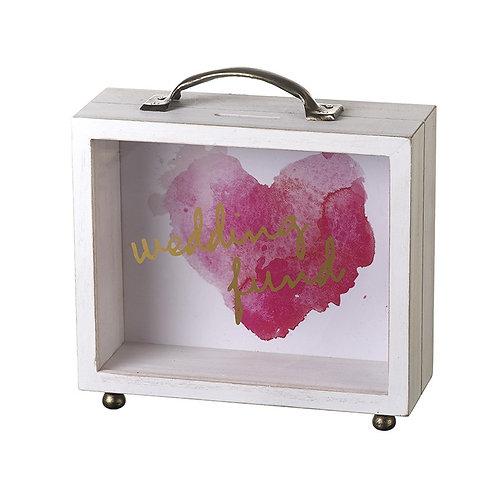 Heart Wedding Fund Moneybox
