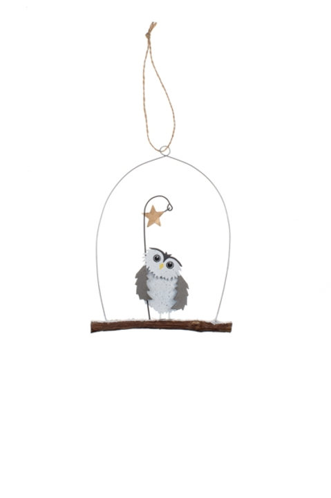Star and Owl Hanging Decoration