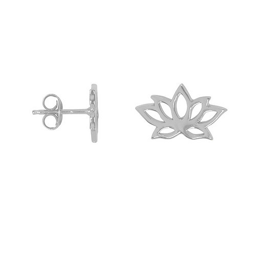 Lotus Flower Sterling Silver Stud