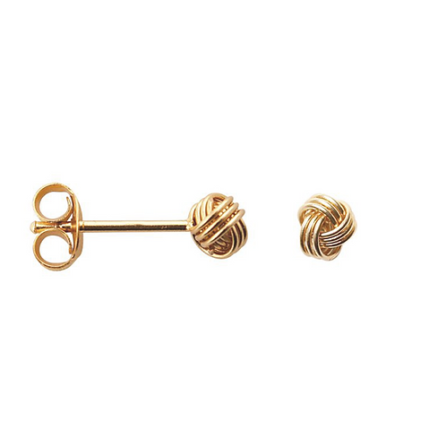 Button Sterling Silver  and Gold Plating  Stud