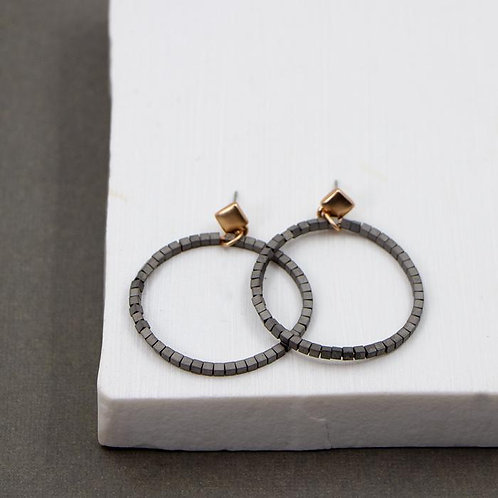 Beaded hoop style earrings