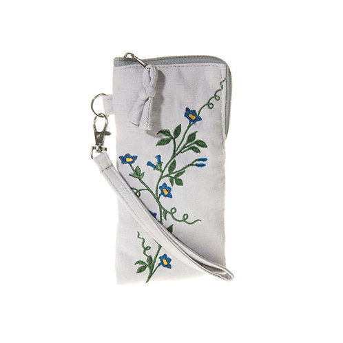 Embroidered Floral  Glasses / Phone Case