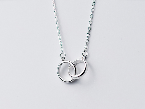 Sterling Silver Pendant - Twin Hoops