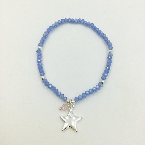 Stretchy bracelet blue star