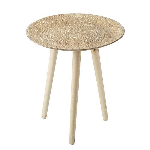 Wood Three Leg Table