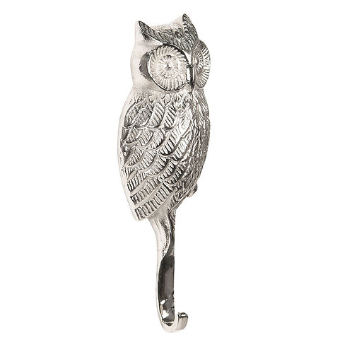 Silver Owl Wall Hook