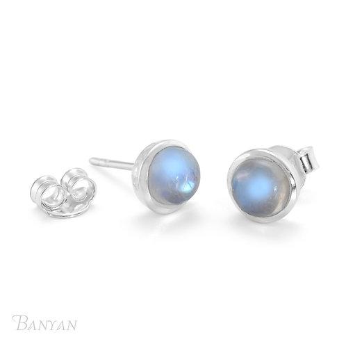 Moonstone Sterling Silver Stud Earrings