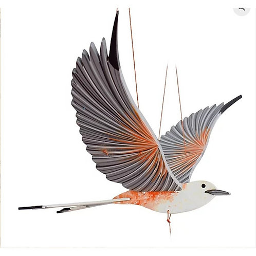 Scissor Fly Catcher Bird- Handcrafted flying mobile - Fair Trade