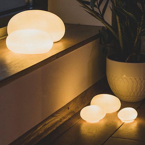 Set of 3 small light up pebbles