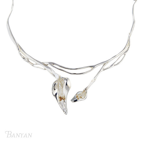 Double Lily Necklace