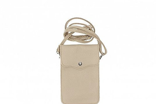 Taupe Crossbody Phone Purse -  Italian Leather