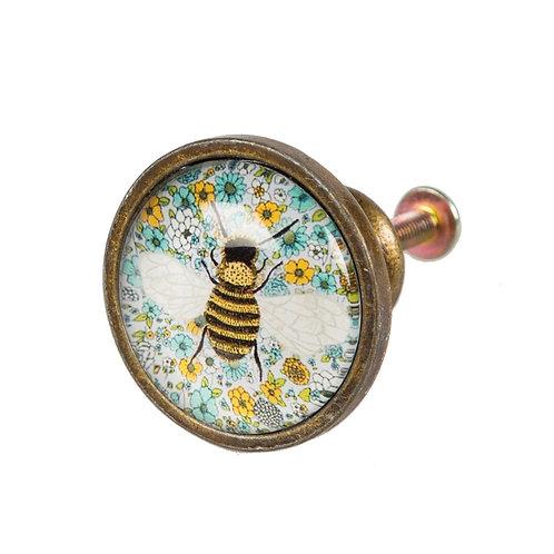 Summer Floral Bee Drawer Knob