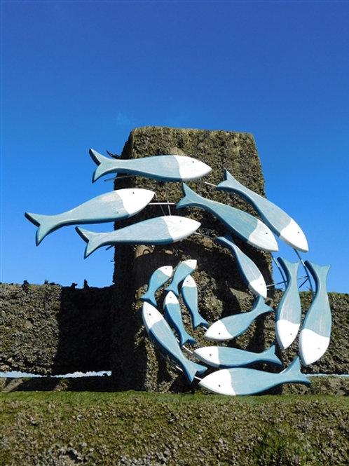 Follow the leader fish wall art