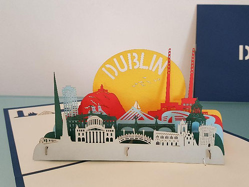 Pop up Card -Dublin Sunrise