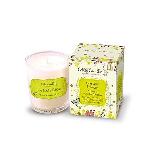 9cl Celtic Candle -Lime Leaf & Giner