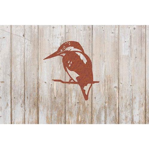 Kingfisher rust metal wall decoration