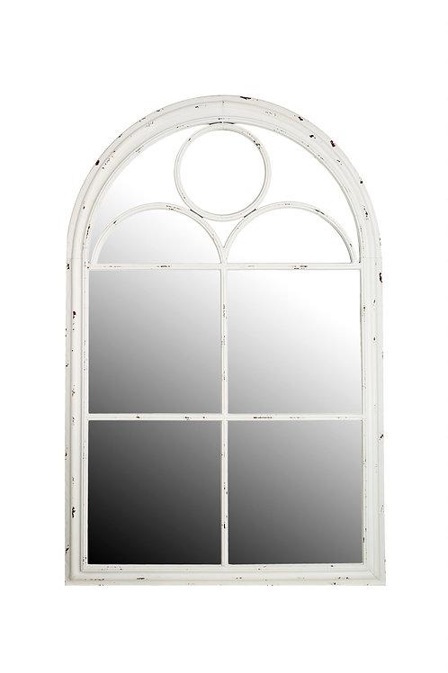 Rouen White Vintage Look Indoor or Outdoor Mirror IN STORE ONLY