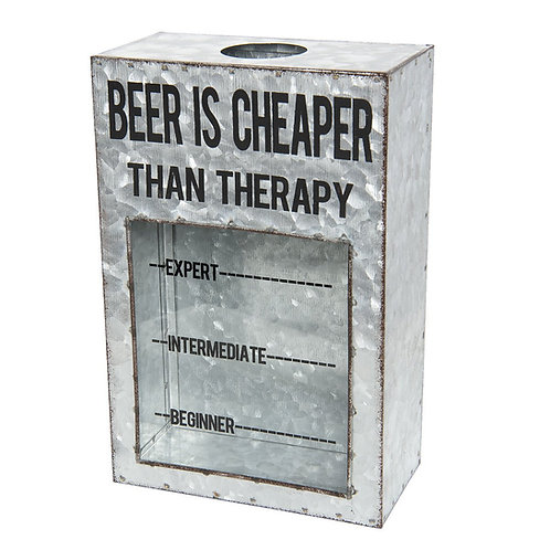 Beer is cheaper than therapy - Bottle Cap Bank