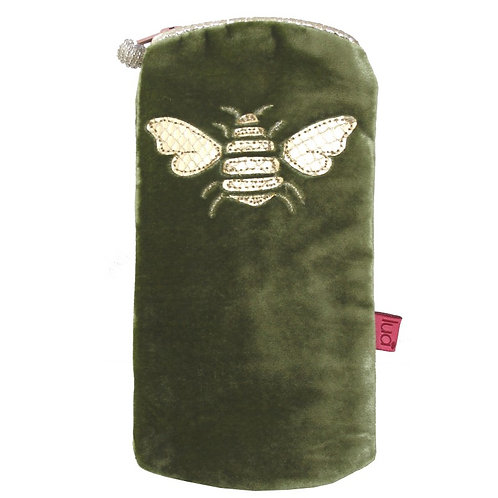 Bee Glasses Purse - Olive