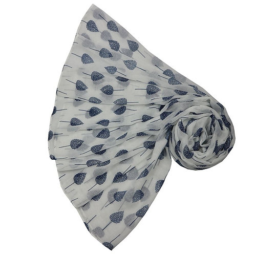 Little Trees Scarf - White