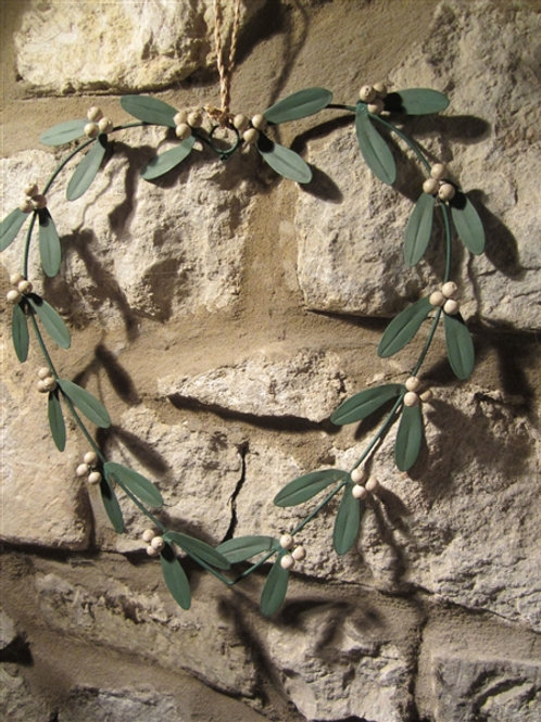 Mistletoe Heart Wreath