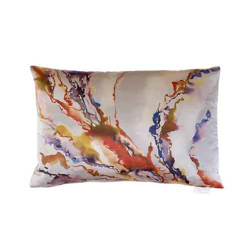 Voyage Cushion -Ink abstract cushion