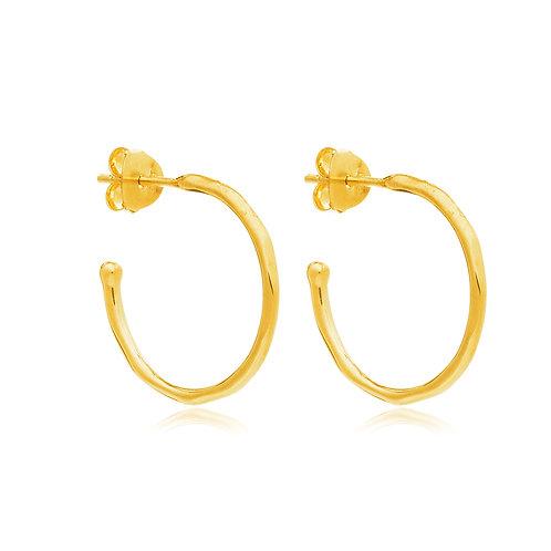18ct Gold Vermeil hoop earring