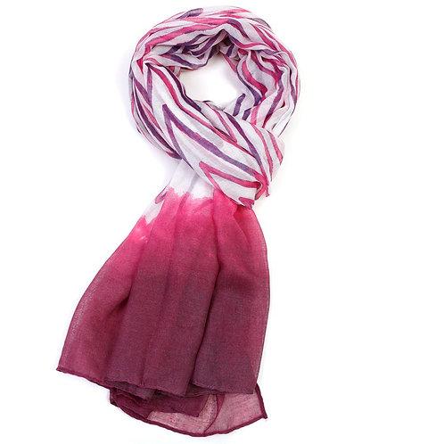 Watercolour Chevron Scarf -Pink