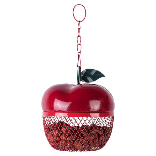 Red Apple Hanging Birdfeeder