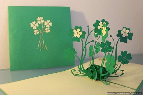 Pop up Cards - Lucky Clovers