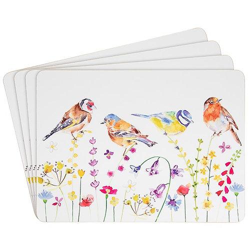 Garden Birds Set of Four Placemats
