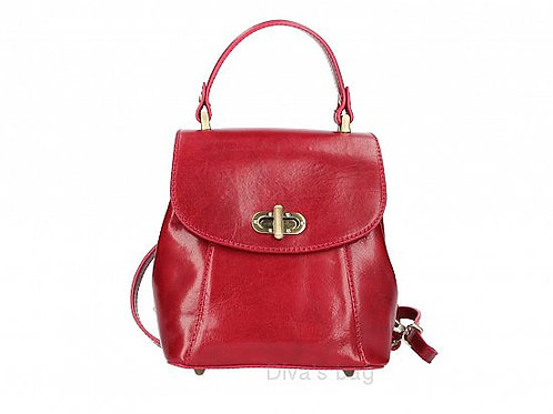 Small Structured Backpack - Red
