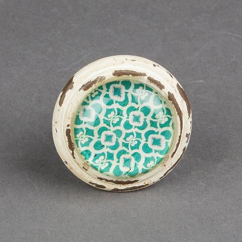 Istanbul Green Vintage Look Drawer Knob