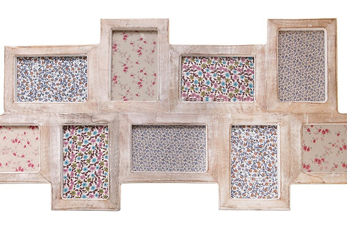 Multi Photo Frame Blond Wood IN STORE ONLY