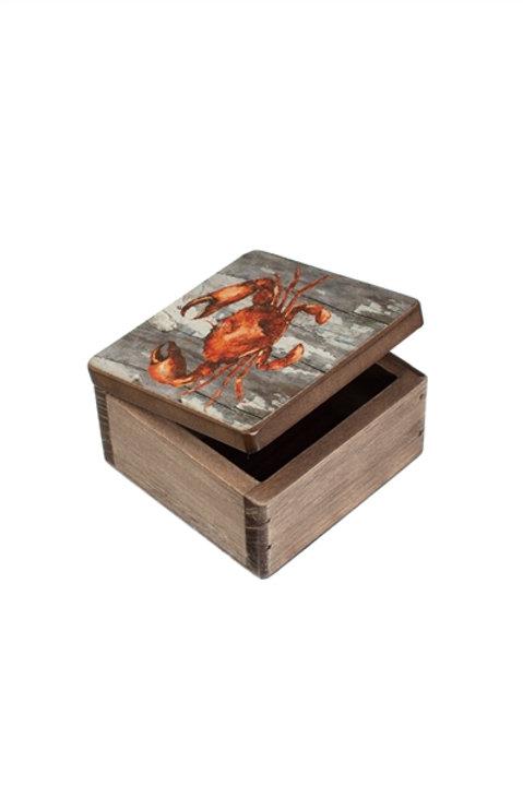 Square Wooden Crab Box