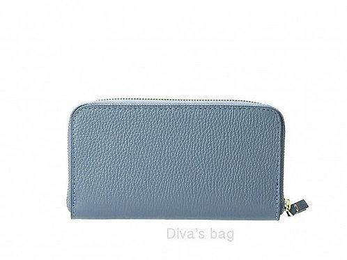 Blue - Italian Leather Purse/ Wallet