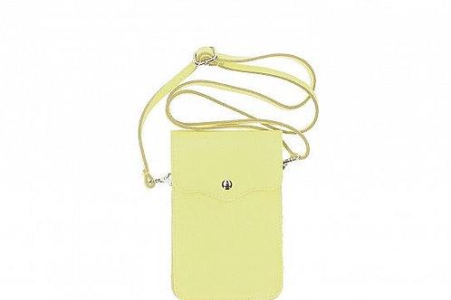 Crossbody Phone Purse - Mustard Italian Leather