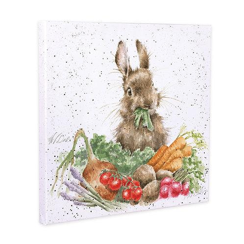 Rabbit and Vegies Wrendale Canvas Print