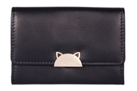 Cat Best Friends Coin Purse - Black