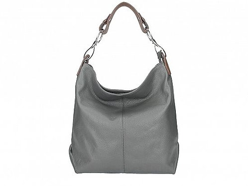 Dark Grey Shoulder Bag with Long Strap