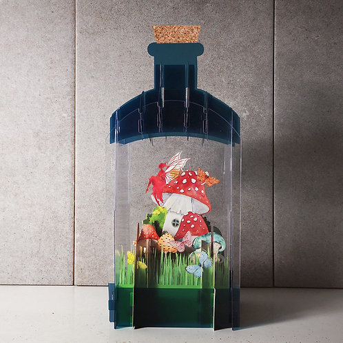 Message in a bottle card - Fairy