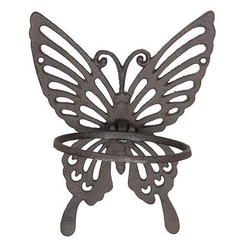 Cast Iron Butterfly Garden Pot Holder