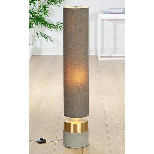 Concrete Floor Lamp with Gold Trim