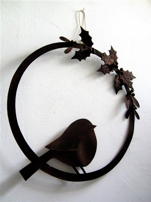 Yuletide Robin Wreath