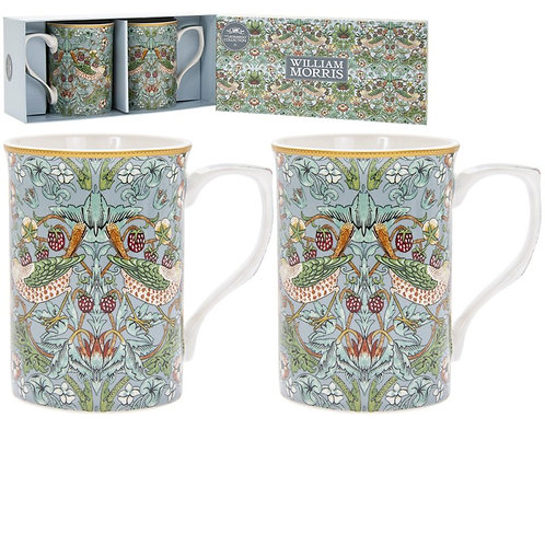 Set of 2 William Morris Strawbery Thief Mugs