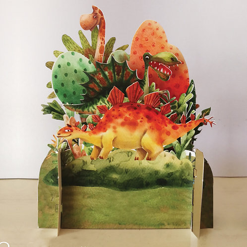 3D card - Dinosaurs