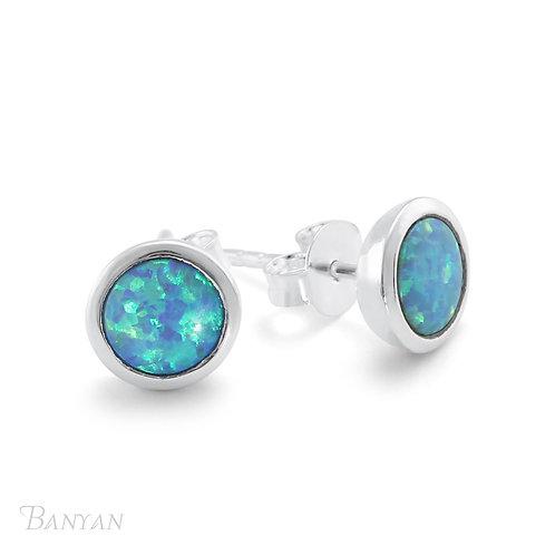 Blue Opalite Sterling Silver Earrings