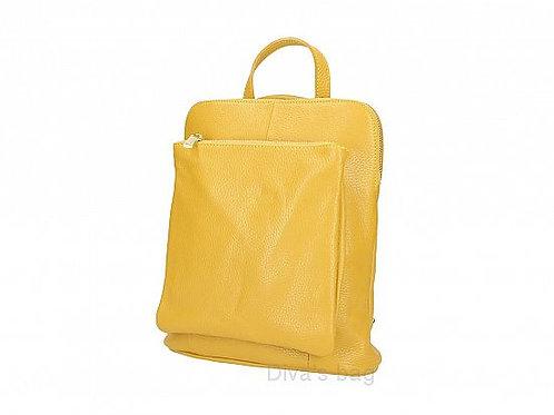 Mustard Slim Backpack with Large Front Pocket